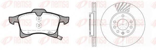Комплект тормозов, дисковый тормозной механизм REMSA 81036.00