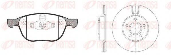 Комплект тормозов, дисковый тормозной механизм REMSA 81082.00