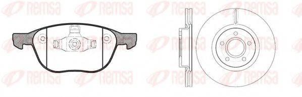 Комплект тормозов, дисковый тормозной механизм REMSA 81082.01