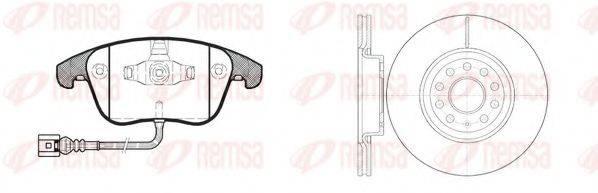 Комплект тормозов, дисковый тормозной механизм REMSA 81219.02