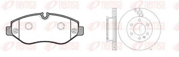 Комплект тормозов, дисковый тормозной механизм REMSA 81245.00