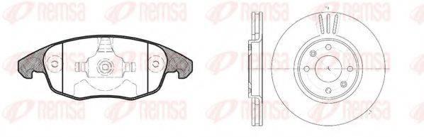 Комплект тормозов, дисковый тормозной механизм REMSA 81248.00