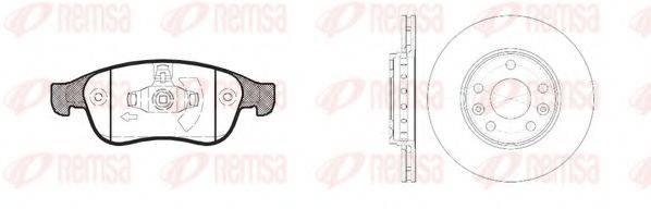 Комплект тормозов, дисковый тормозной механизм REMSA 81248.01