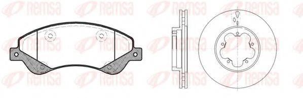 Комплект тормозов, дисковый тормозной механизм REMSA 81251.00