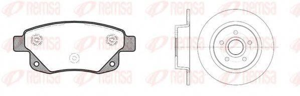 Комплект тормозов, дисковый тормозной механизм REMSA 81252.01