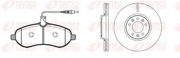 Комплект тормозов, дисковый тормозной механизм REMSA 81292.00