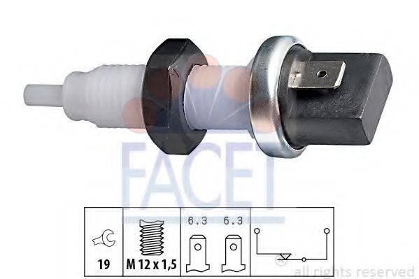 Выключатель фонаря сигнала торможения FACET 7.1000