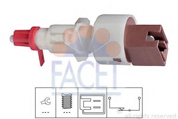 Выключатель, привод сцепления (Tempomat) FACET 7.1157