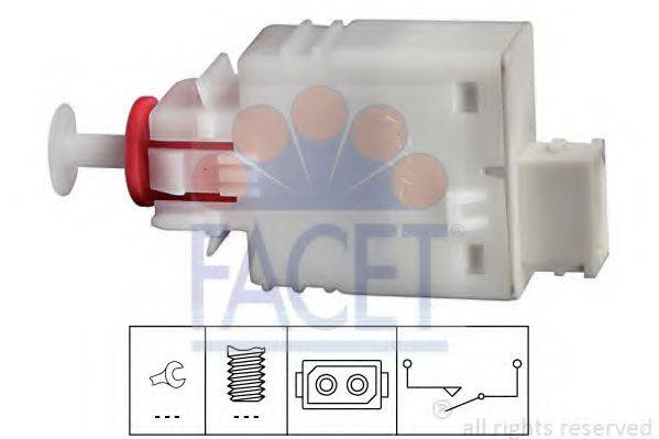 Выключатель, привод сцепления (Tempomat) FACET 7.1110