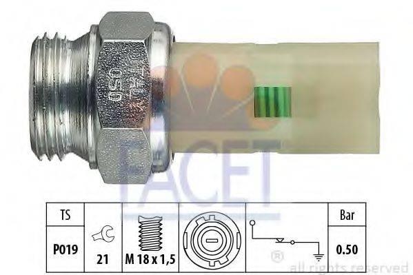 Датчик давления масла FACET 7.0075