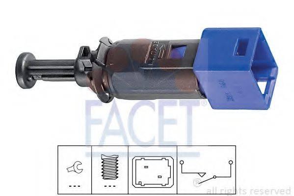 Выключатель фонаря сигнала торможения; Выключатель, привод сцепления (Tempomat) FACET 7.1195