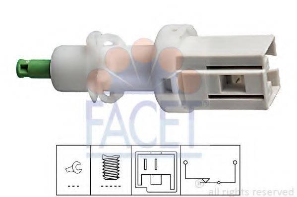 Выключатель фонаря сигнала торможения; Выключатель, привод сцепления (Tempomat) FACET 7.1068