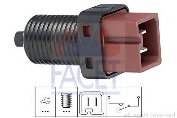 Выключатель фонаря сигнала торможения; Выключатель, привод сцепления (Tempomat) FACET 7.1132