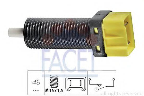 Выключатель, привод сцепления (Tempomat) FACET 7.1134