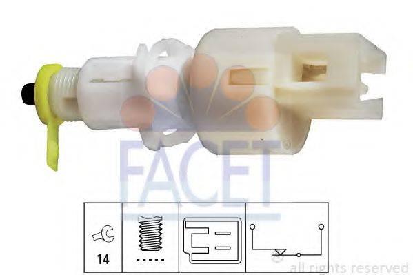Выключатель фонаря сигнала торможения; Выключатель, привод сцепления (Tempomat) FACET 7.1108