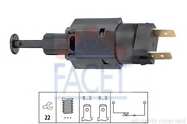 Выключатель фонаря сигнала торможения FACET 7.1050