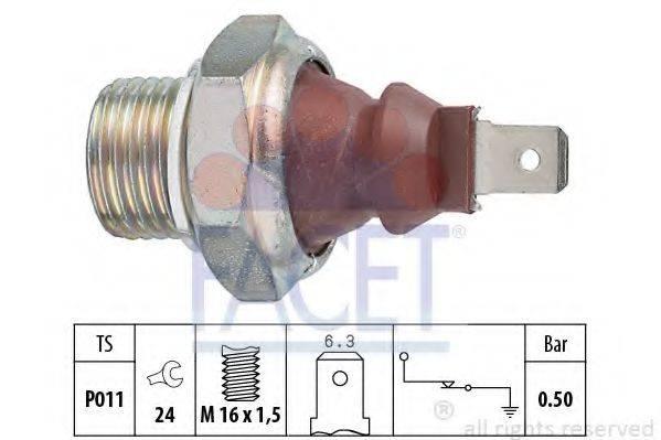 Датчик давления масла FACET 7.0124