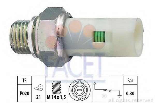 Датчик давления масла FACET 7.0076