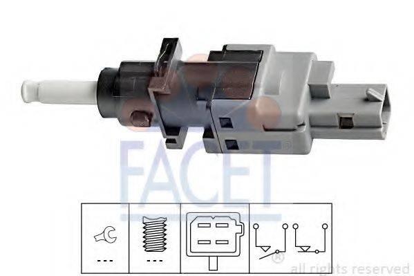 Выключатель, привод сцепления (Tempomat) FACET 7.1196