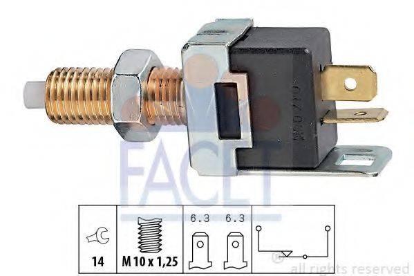 Выключатель фонаря сигнала торможения; Выключатель, привод сцепления (Tempomat) FACET 7.1017