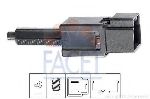 Выключатель фонаря сигнала торможения; Выключатель, привод сцепления (Tempomat) FACET 7.1165