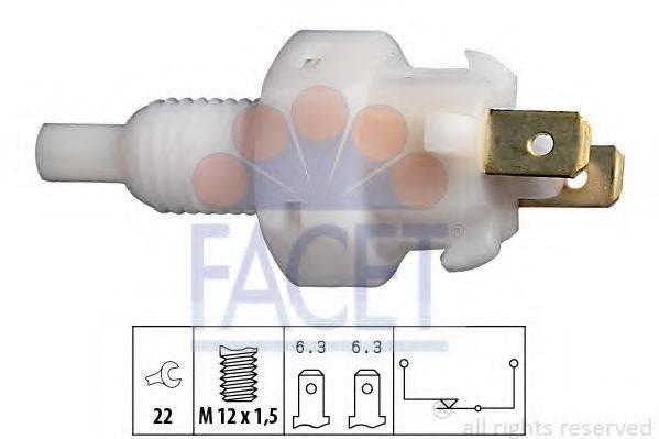 Выключатель фонаря сигнала торможения FACET 7.1004