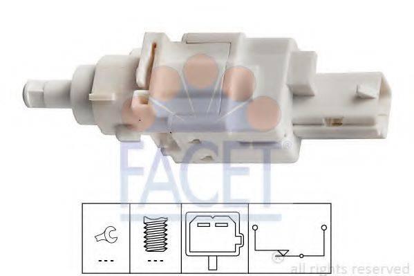 Выключатель фонаря сигнала торможения; Выключатель, привод сцепления (Tempomat) FACET 7.1179