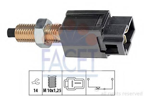 Выключатель фонаря сигнала торможения; Выключатель, привод сцепления (Tempomat) FACET 7.1169