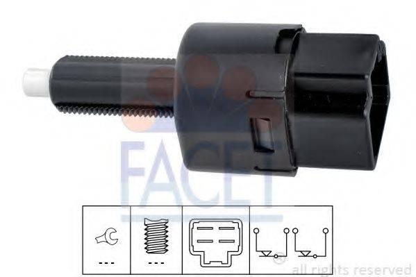 Выключатель фонаря сигнала торможения; Выключатель, привод сцепления (Tempomat) FACET 7.1202