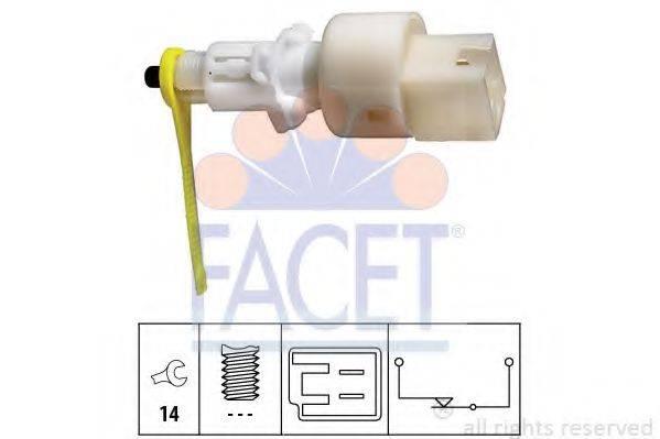 Выключатель фонаря сигнала торможения; Выключатель, привод сцепления (Tempomat) FACET 7.1153