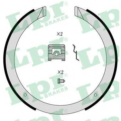 Комплект тормозных колодок, стояночная тормозная система LPR 01098