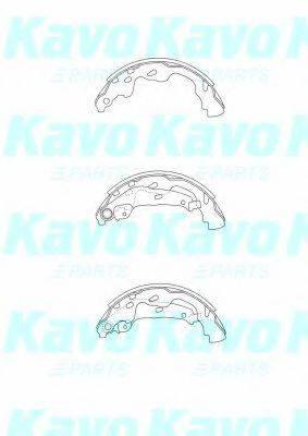 Комплект тормозных колодок KAVO PARTS BS-9933