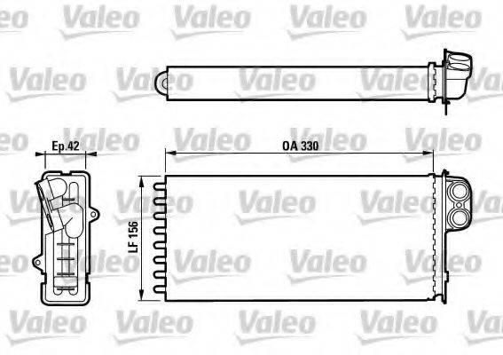 Теплообменник, отопление салона VALEO 812128