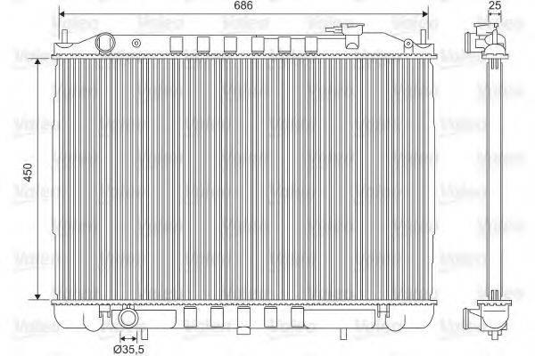 Радиатор, охлаждение двигателя VALEO 701611