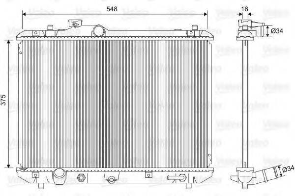 Радиатор, охлаждение двигателя VALEO 701587
