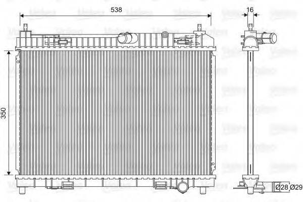 Радиатор, охлаждение двигателя VALEO 701603