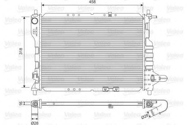 Радиатор, охлаждение двигателя VALEO 701598