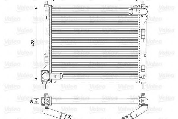 Радиатор, охлаждение двигателя VALEO 701583