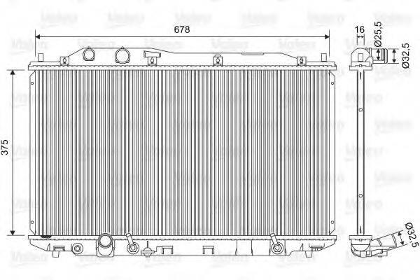 Радиатор, охлаждение двигателя VALEO 701570