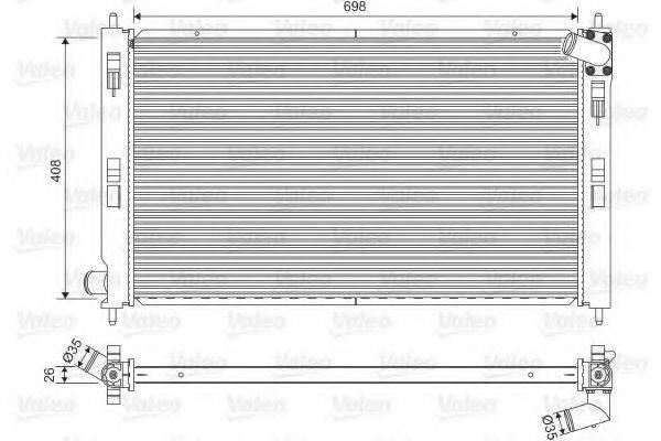 Радиатор, охлаждение двигателя VALEO 701577