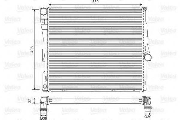 Радиатор, охлаждение двигателя VALEO 701563