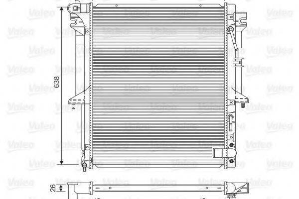 Радиатор, охлаждение двигателя VALEO 701585