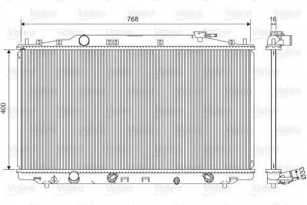Радиатор, охлаждение двигателя VALEO 701551