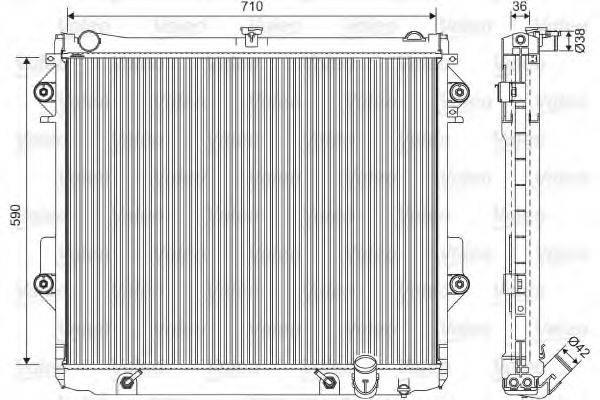 Радиатор, охлаждение двигателя VALEO 701552
