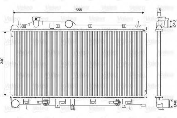 Радиатор, охлаждение двигателя VALEO 701554