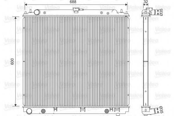 Радиатор, охлаждение двигателя VALEO 701566