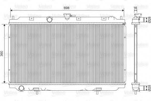 Радиатор, охлаждение двигателя VALEO 701581