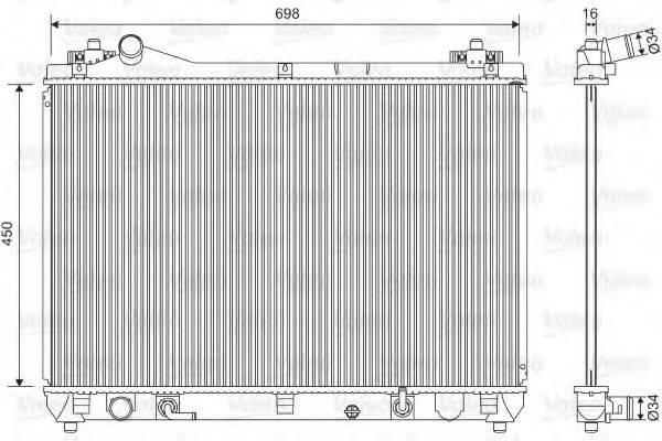 Радиатор, охлаждение двигателя VALEO 701592
