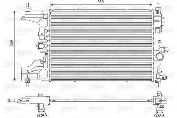 Радиатор, охлаждение двигателя VALEO 701594