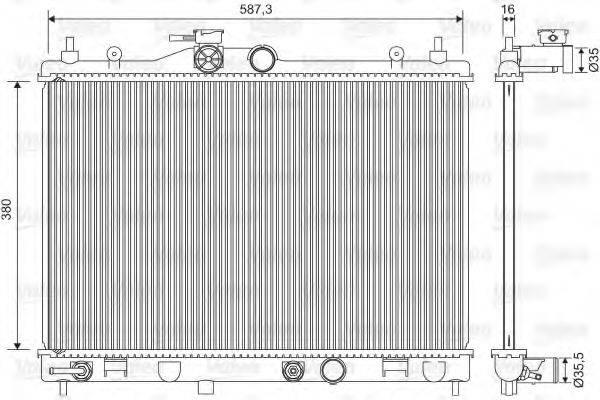 Радиатор, охлаждение двигателя VALEO 701573
